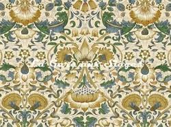 Tissu William Morris - Lodden - réf: 222522 Manilla/Bayleaf ( détail ) - Voir en grand