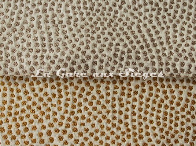 Tissu Jean Paul Gaultier - Escale - réf: 3473 - Coloris: 03 Beige & 04 Doré - Voir en grand