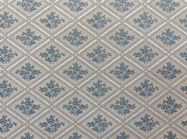 Tissu Chanée Ducrocq - Constance - réf: 6769 Bleu - Voir en grand
