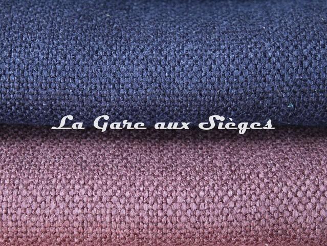 Tissu Dominique Kieffer - Gros Lin - réf: 17208 - Coloris: 05 Royal bleu & 06 Violet - Voir en grand