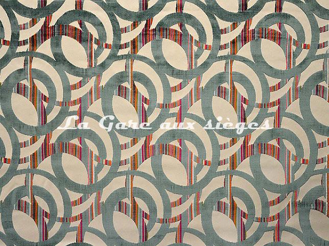Tissu Casal - Chenonceau - réf: 12704.12 Turquoise - Voir en grand