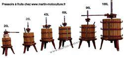 Pressoir à fruits de grand volume 69L à 477L - Pressoirs manuel à fruits - MARTIN Motoculture - Voir en grand