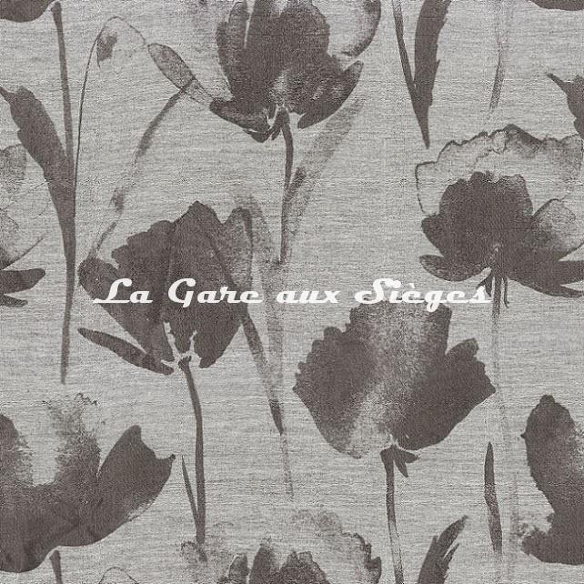 Tissu Casamance - Eclose - réf: 4616.0122 Acier - Voir en grand