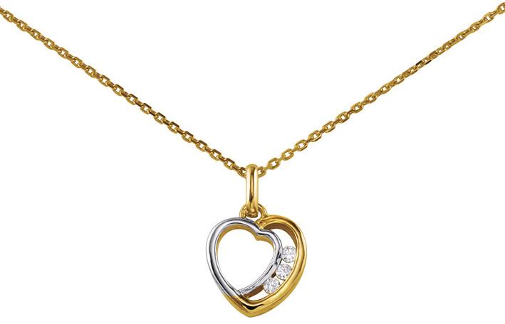 Collier coeur bicolore oxydes ref 1507792.01.45 62 ¤ - Voir en grand