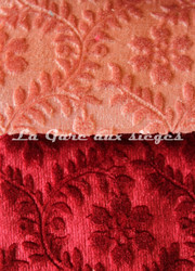 Tissu Chanée Ducrocq - Velours gaufré Castiglione - Coloris: 943 Tanagra - 945 Amarante - Voir en grand