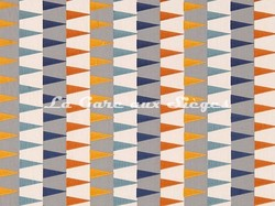 Tissu Harlequin - Azul - réf: 132013 Rust/Navy/Nordic - Voir en grand