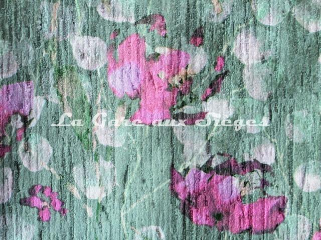 Tissu Deschemaker - Pavot - réf: 3111 Menthe - Voir en grand