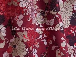 Tissu Jean Paul Gaultier - Kyoto - réf: 3466-02 Grenat - Voir en grand