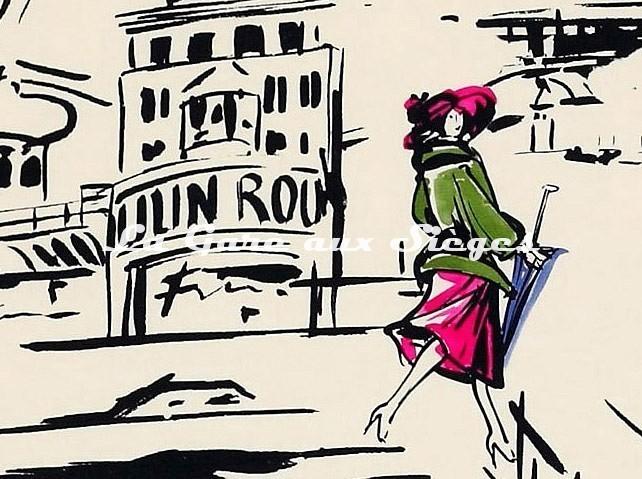 Tissu Manuel Canovas - La Parisienne ( détail 3 ) - Voir en grand