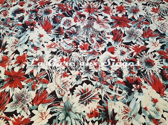 Tissu Jean Paul Gaultier - Hawaï - réf: 3496.02 ( lé ) - Voir en grand