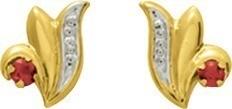 Boucles d'oreilles bicolore rubis or 18 carats 99 ¤ - Voir en grand