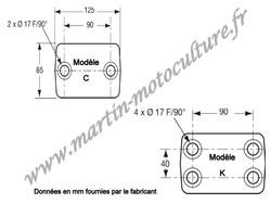 Crochet d'attelage mixte modéle C et K POMMIER 295071 www.martin-motoculture.fr - Voir en grand
