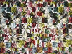 Tissu Casal - Kaleidoscope - réf: 12844.3480 Tropical Anémone - Voir en grand