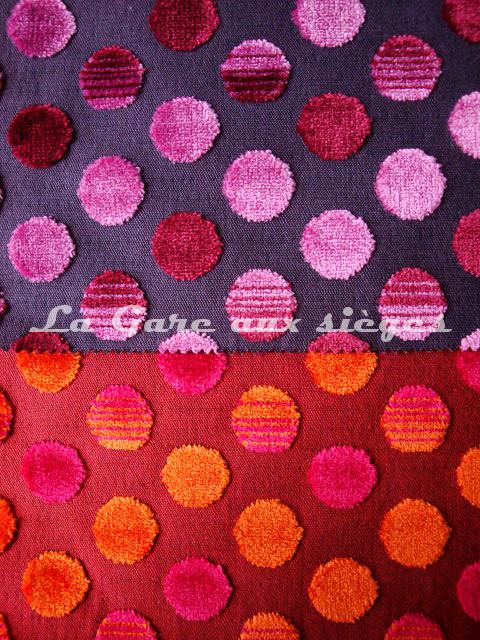 Tissu Jéro - Diabolo - réf: 9293 - Coloris: 1891 Orchidée & 1893 Volcan - Voir en grand
