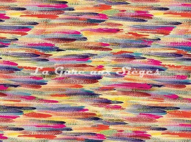 Tissu Casamance - Broderie Charivari - réf: 3794.0172 Fuschia - Voir en grand