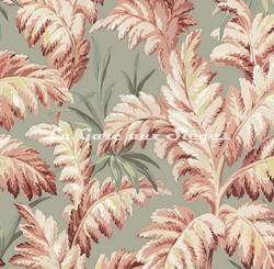 Tissu House of Hackney - Pluma coton/lin - Coloris: Eau de Nil - Voir en grand