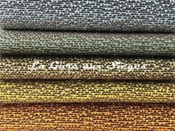 Tissu Rubelli - Almoro - réf: 30113 - Coloris: 11 Lago/12 Verde/13 Lichene/14 Giallo/15 Zafferano - Voir en grand