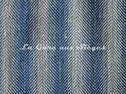 Tissu Osborne & Little - Slane - réf: F6695-01 - Coloris: Navy/Linen - Voir en grand