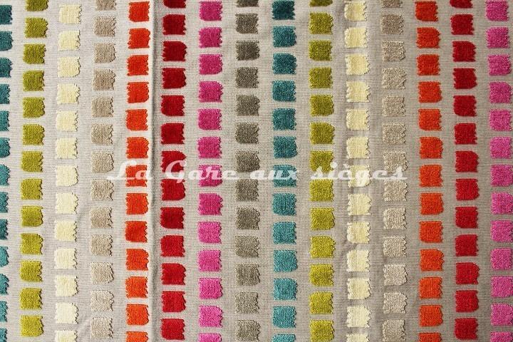 Tissu Deschemaker - Velours Salvador - réf: 103686 - Coloris: Multicolore - Voir en grand