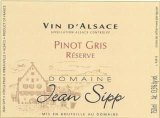 PINOT GRIS RESERVE 2018 JEAN SIPP - ALSACE - Charpentier Vins - Voir en grand