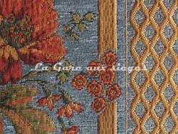 Tissu Amélie Prévot - Sourdeval - réf: 16123 - Coloris: 10 Bleu - Voir en grand