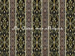 Tissu House of Hackney - Mamounia velvet - Coloris: Moss/Green - Voir en grand