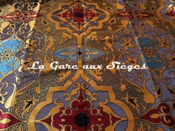 Tissu Tassinari & Châtel - Tolede - réf: 1693.01 Encre - Voir en grand