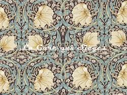 Tissu William Morris - Pimpernel - réf: 224492 Bullrush/Slate ( détail ) - Voir en grand