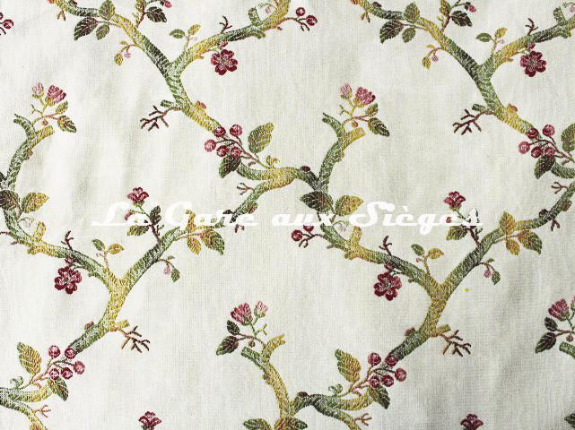 Tissu Chanée Ducrocq - Eugénie - réf: 6738 Rose Vert - Voir en grand