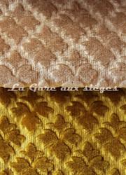 Tissu Chanée Ducrocq - Velours gaufré Rivoli - Coloris: 941 Dune - 942 Ambre - Voir en grand