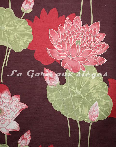 Tissu Bélinac - Lotus - réf: 1023 - Coloris: 03 Violet - Voir en grand