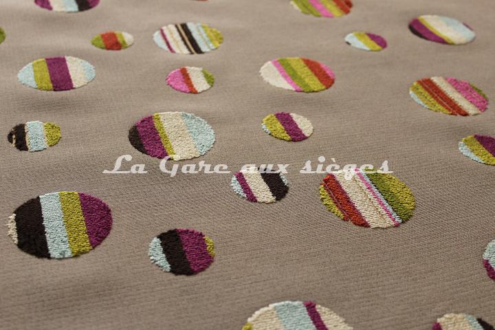 Tissu Deschemaker - Luna - réf: 103631 Multicolore - Voir en grand