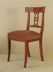 Chaise d'époque Directoire en merisier - Tissu Jab - Voir en grand