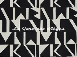 Tissu Pierre Frey - Wokabi - réf: F3355.002 Noir - Voir en grand