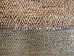 Tissu Pierre Frey - Avenue - réf: F2717 - Coloris: 001 Corde & 009 Céladon - Voir en grand