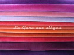 Tissu Nobilis - Velours Otello - Palette de couleur n°1 - Voir en grand