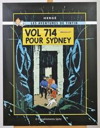cadre création tintin vol 714 pour Sydney face - Voir en grand