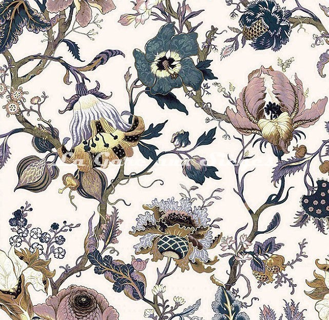 Tissu House of Hackney - Artemis coton/lin - Off-White - Voir en grand