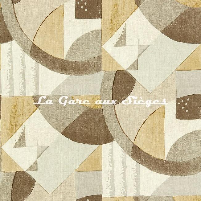 Papier peint Zoffany - Abstract 1928 - réf: 312889 Taupe - Voir en grand