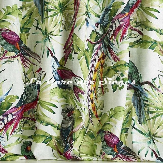 Tissu Pierre Frey - Vol d'oiseaux - réf: F3392.001 ( détail ) - Voir en grand