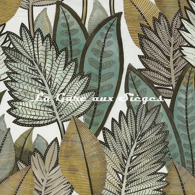 Tissu Casamance - Balata - réf: 4374.0145 Vert de gris - Voir en grand