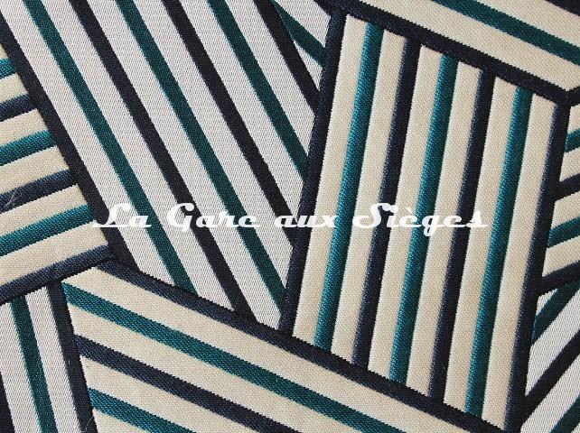 Tissu Dedar - Short Cuts - réf: T15009.003 Peacock ( détail ) - Voir en grand