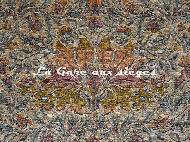 Tissu Casal - Mucha - réf: 16206-4574 Orangé Beige - Voir en grand