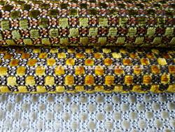 Tissu Nobilis - Velours Raphaël - réf: 10347 - Coloris: 73 / 32 / 03 - Voir en grand