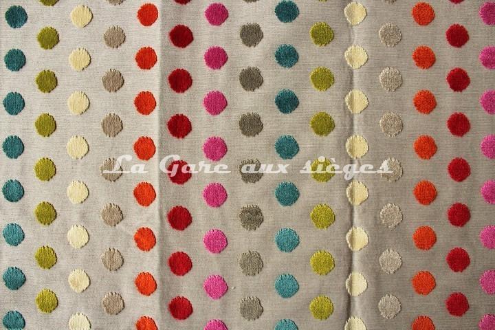 Tissu Deschemaker - Velours Vitoria - réf: 103699 - Coloris: Multicolore - Voir en grand