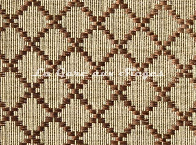 Tissu Le Crin - Nircel 344 - réf: C0344 - Coloris: 078 Marron/Beige - Voir en grand