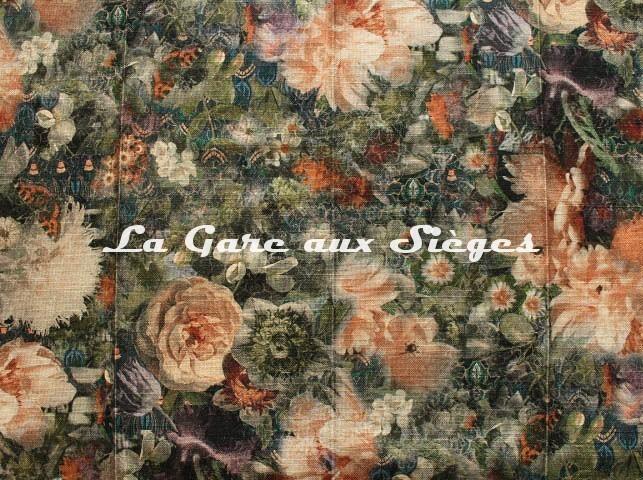 Tissu GP & J.Baker - Royal Garden Linen - réf: BP10643.1 Quartz ( détail ) - Voir en grand