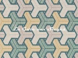 Tissu Camengo - Baléares - réf: 4171.0661 Vert - Voir en grand