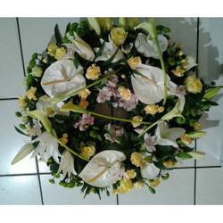 couronne pour obsèques, deuil - Voir en grand