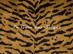 Tissu House of Hackney - Velours Tiger - Coloris: Taupe - Voir en grand